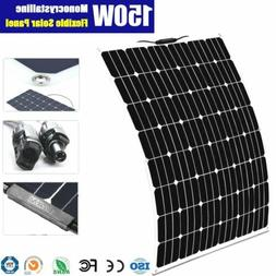 18V 150W FLEXIBLE MONO SOLAR PANEL CARAVAN BOAT 4WD BATTERY