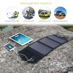 18V 21W Solar Charger Panel Waterproof Foldable Power Bank f