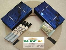 1KW+ 3x6 Solar Cells PLUS TAB Wire/Bus, Flux SE CELLS
