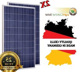 2*100 Watt Solar Panel,  200W 12V or 24 volt Off Grid RV Boa