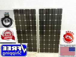 2- 175  Watt 12 Volt Battery Charger Solar Panel Off Grid RV