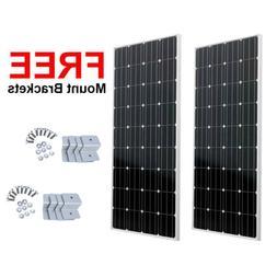 2-200Watt 12Volt Solar Panel 400W 12V Off Grid Power Charge