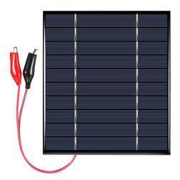 2.5W 5V Polycrystalline Silicon Solar Panel with Alligator C