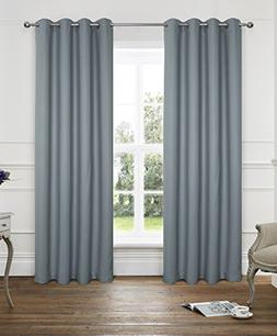 Alexandra Cole 2 Panels Thermal Insulated Solid Grommet 54x9