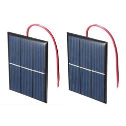 2 pcs 1.5V 400mA 80x60mm Micro-Mini Power <font><b>Solar</b>