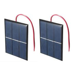 2 pcs 1.5V 400mA 80x60mm Micro-Mini Power Solar Cells For So