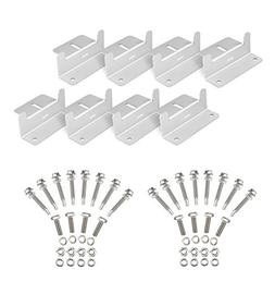 2 Sets of Solar Panel Roof Mounting Z-Bracket with Nuts and