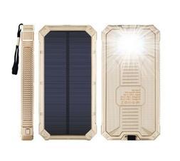 Case Safety 1 x 300000mAh 2 USB Backup Solar Waterproof Port