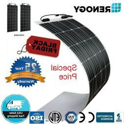 2 X Renogy 160W 12V Highly Flexible Mono Solar Panel 320W PV