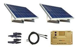 WindyNation 200 Watt 12V or 24V Solar Panel Kit w/ Adjustabl