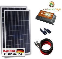 200 Watt 12 Volt Battery Charging Solar Panel Kit 12V 200W R