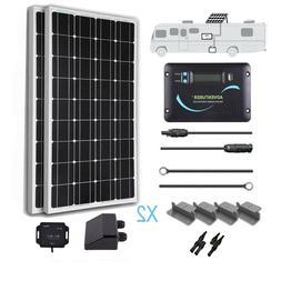 Renogy 200 Watt 12 Volt Monocrystalline Solar RV Kit w/ Blue