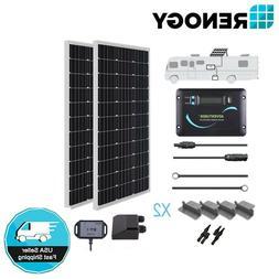Renogy 200 Watt 12 Volt Solar RV Kit  With Bluetooth