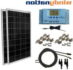 200 Watt 200W Solar Panel Kit with LCD Solar controller 12/2