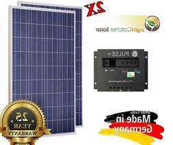 200 Watt 200W Solar Panel Kit + Solar controller 12/24V volt