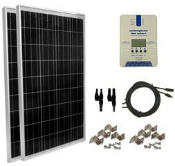 WindyNation 200 Watt  Solar Panel Kit w/ TrakMax MPPT Solar