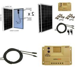 Windynation 200 Watt  Solar Panel Complete Off-Grid Rv Boat