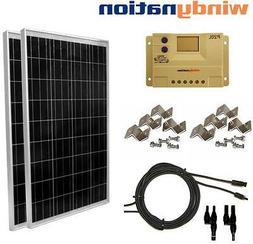 200 Watt  Solar Panel Kit 12V 24V w/ LCD Charge Controller R