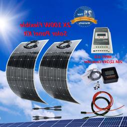 200 Watt Flexible Solar Panel Kit with MPPT 20A Controller 1