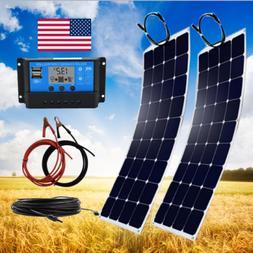 200 Watt Flexible Solar Panel Kit with 20A Controller off Gr