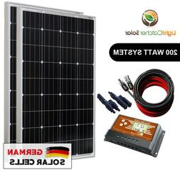 200 Watt Mono Solar Panel Kit 12V 200W 12-Volt Battery Charg