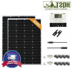 HQST 200 Watt 12V Mono Solar Panel Starter Kit Battery Charg