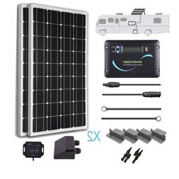 Renogy 200 Watts 12 Volts Monocrystalline Solar RV Kit Off-G
