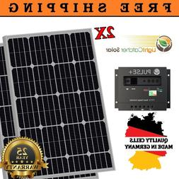 200 Watts Mono Solar Panel kit 30A Charge Controller RV Boat