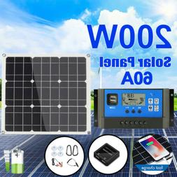 200W 100W Watt Solar Panel Kit for 12V Battery Power Charge