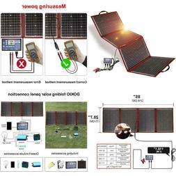 DOKIO 200W 12V Foldable Solar Panel Kit Monocrystalline with