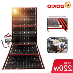 200W 12V Foldable Solar Panel Mono with Inverter Charge Cont