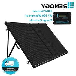 Renogy 200W 12V Mono Folding Solar Panel Suitcase RV Off Gri