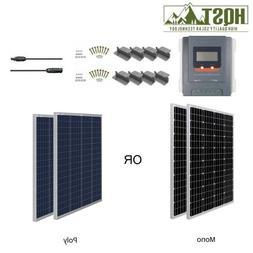 HQST 200W Watt 12V Solar Panel Starter Kit W/ 30A MPPT Charg