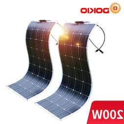 Dokio 200w 12v Monocrystalline Flexible Solar Panel For RV/B