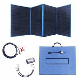 200W 12V Portable Folding Solar Panel with a 15A Solar Charg