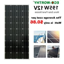 ECO 200W 18V Mono Solar Panel battery charge for Home RV Car