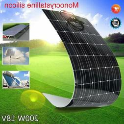 200W 18V Mono Solar Panel Semi-flexible Off Grid 200 Watt Ba