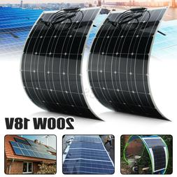 200W 18V Mono Solar Panel Semi-flexible Off-Grid Battery Cha