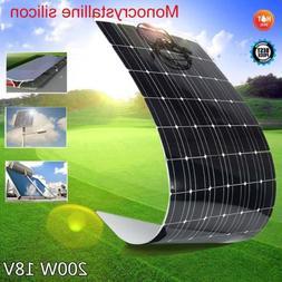 200W 18V Mono Solar Panel Semi-flexible Off Grid 200 Watt Ba