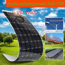 200W 18V Monocrystalline Sunpower Semi Flexible Solar Panel