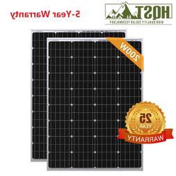 HQST 200W 2PCS 100 Watt 12V Mono-crystalline Solar panel RV