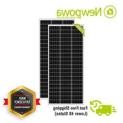 Newpowa 200W 2PCS 100 Watt Mono-crystalline Solar panel RV M