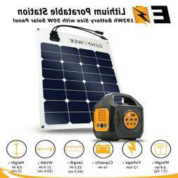 200W Portable Power Station with Options of SunPower 50-watt