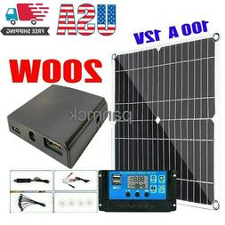 200W Solar Panel Kit 100A 12V battery Charger with Controlle