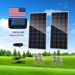 200W Solar Panel Kit 2x 100W off Grid System for 12V RV Boat