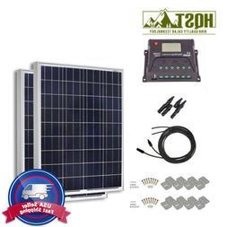 200W Solar Panel Starter Kit 20A Controller 12V Battery Char