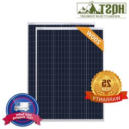 HQST 200W Watt 12 Volt Poly Solar Panel 2 PCS 100W 12V Off G