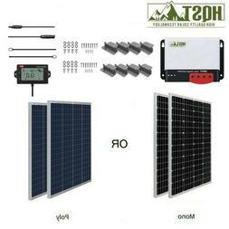 HQST 200W Watt 12V Solar Panel Starter Kit W/ 20A MPPT Charg