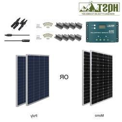 HQST 200W Watt 12V Solar Panel Starter Kit W/ 30A PWMT Charg