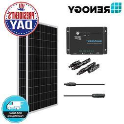 Renogy 200W Watt Mono Solar Panel Bundle Kit W/30A PWM Batte
